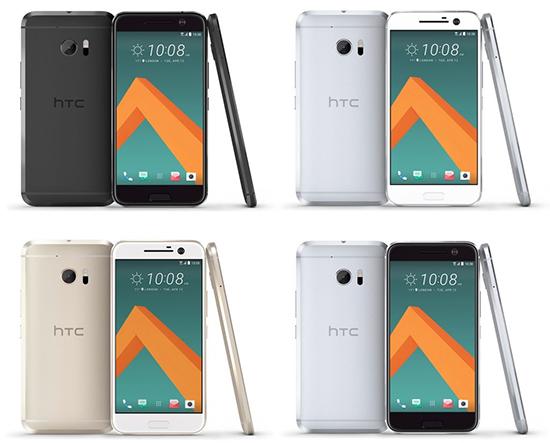 HTC 10 toestellen 4 op een rij