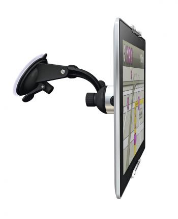 Huawei MediaPad M2 7.0 autohouder gezien vanaf de zijkant