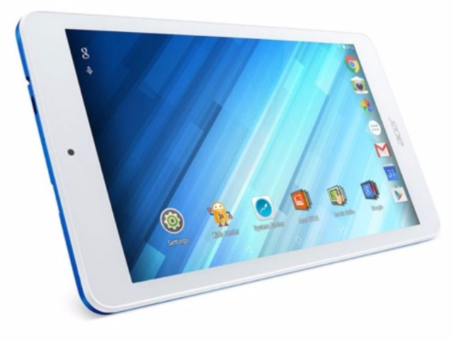 Acer Iconia One 8 B1-850 tablet wit voorkant schuin