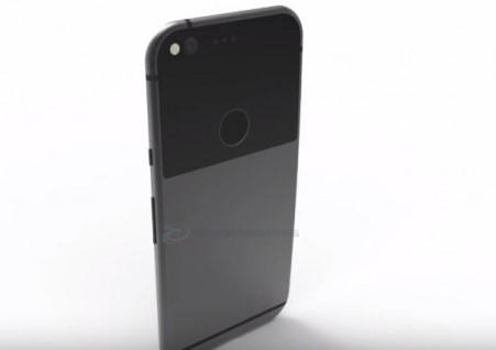 google pixel xl staand op een witte tafel