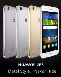 Huawei GR3 telefoon 3 op een rij