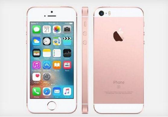 iPhone SE roze voorkant, zijkant en achterkant