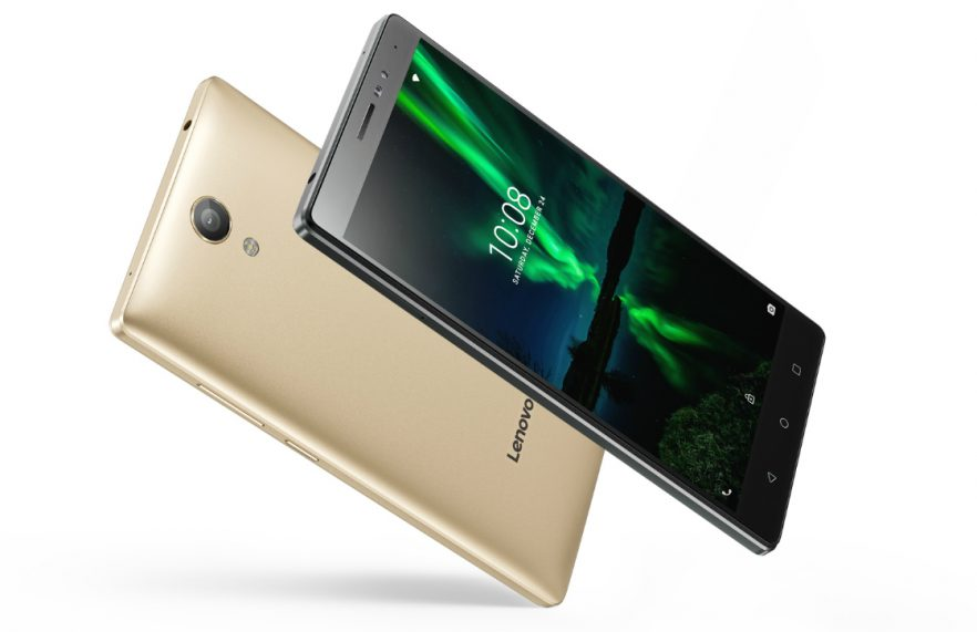 Lenovo smartphones schuin goud en donkergroen