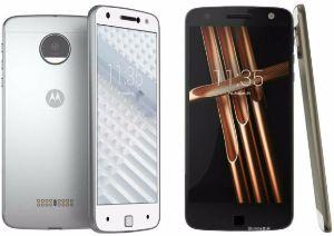 Motorola Moto Z Play zilver en zwart vooraanzicht