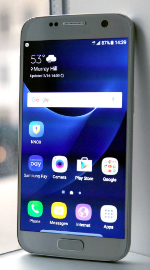 Samsung Galaxy S7 toestel muur