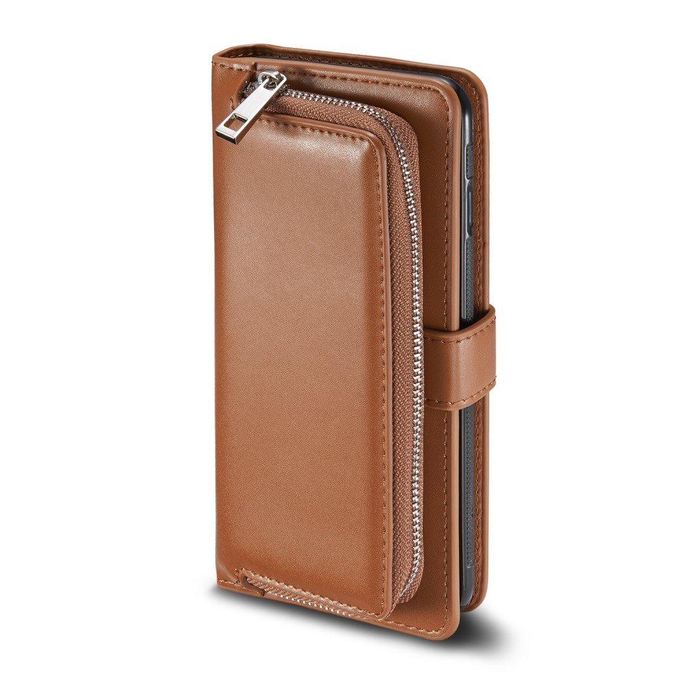 eff9aa8d920 Bescherm met deze bruine portemonnee case je samsung galaxy s8 tegen  stoten, krassen en vuil