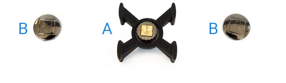 Shop4 - Magnetische autohouder Ventilatierooster Kruis voor telefoons (K3)