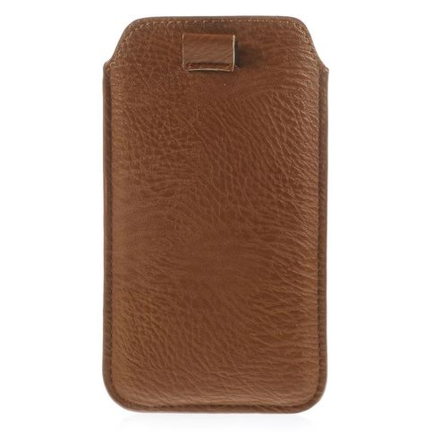Met deze handige bruine sleeve berg je je smartphone snel op, en bescherm je hem optimaal tegen krassen. de ...