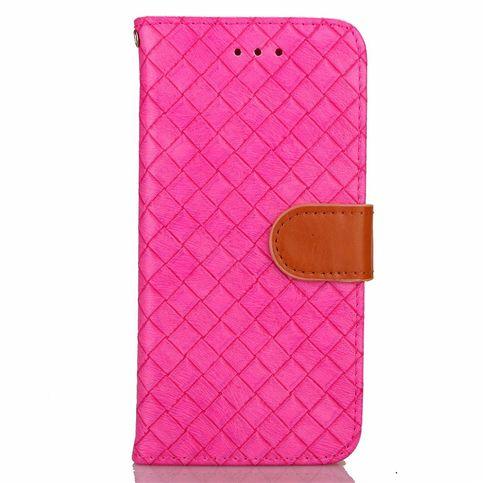 Bescherm met deze roze gewevenprint wallet case je iphone 8 plus tegen stoten, krassen en vuil! het hoesje is ...