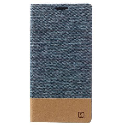 Samsung galaxy j5 (2016) book case  bescherm met deze blauwe denim en leer book case je samsung galaxy j5 ...